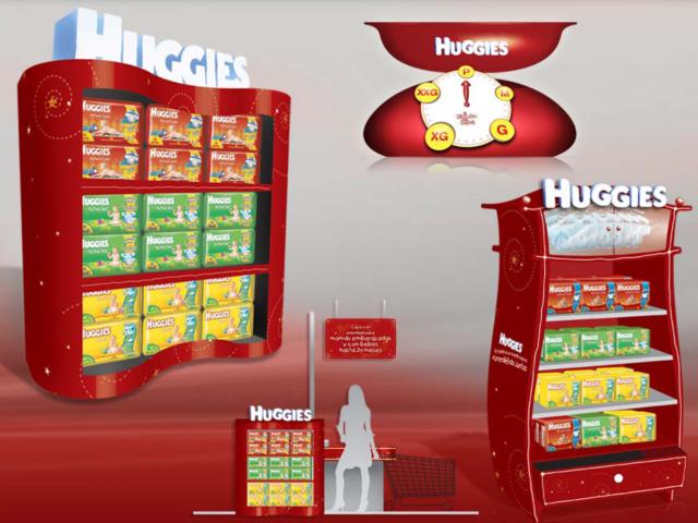Activación In-Store Huggies