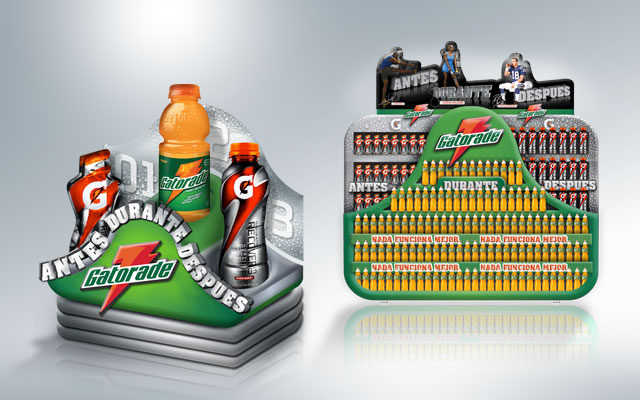 Sports Point of Sale Design for Gatorade Series G, Pepsico, Central America - Imaginity