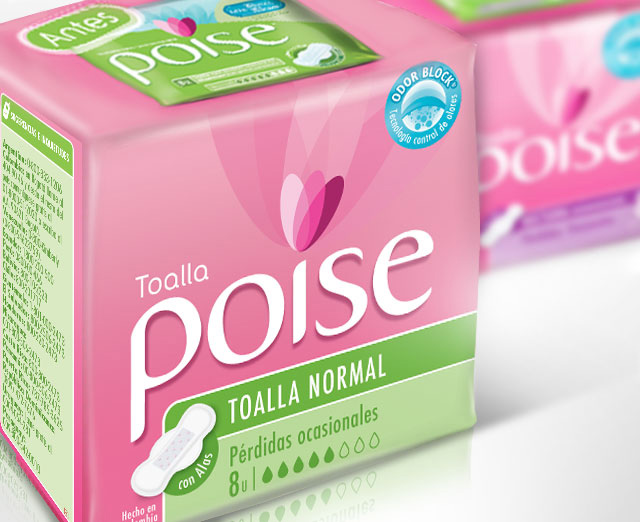 Climacteric Stage Feminine Packaging Design Detail for Poise, Kimberly Clark - Imaginity