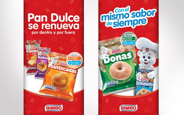 Activación de marca para Bimbo Pan dulce, alimentos, detalle banners, México, Imaginity