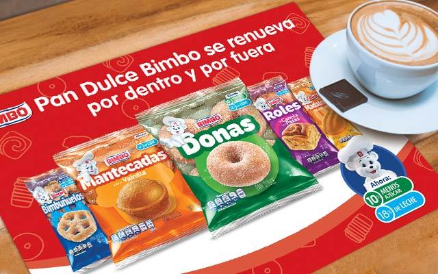 Activación de marca para Bimbo Pan dulce, manteles individuales publicitarios, Imaginity