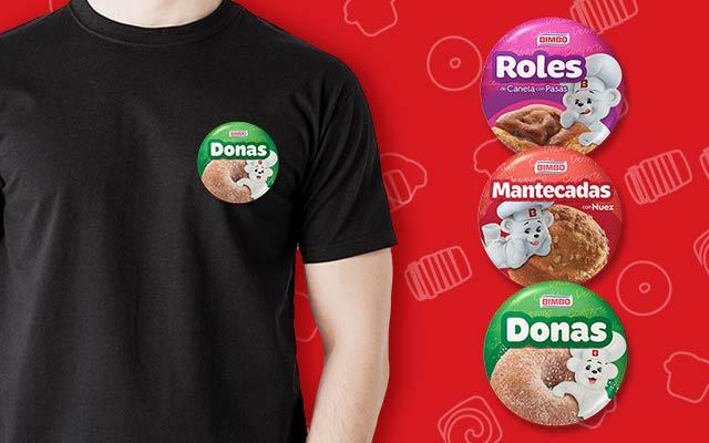 Activación de marca para Bimbo Pan dulce, prendedores de Roles, Mantecadas and Donas, Imaginity