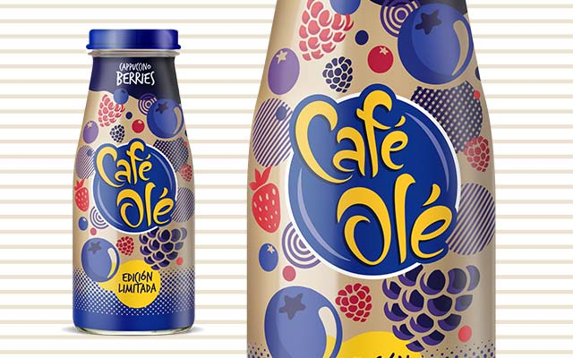Packaging Design Beverage for Café Olé Ice Coffee Cappuccino Berries, Limited Edition, Mexico by Imaginity