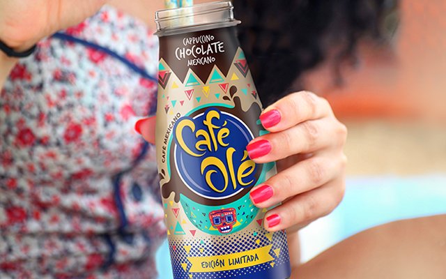 Packaging Design Beverage for Café Olé Ice Coffee Cappuccino Chocolate Limited Edition, Mexico by Imaginity