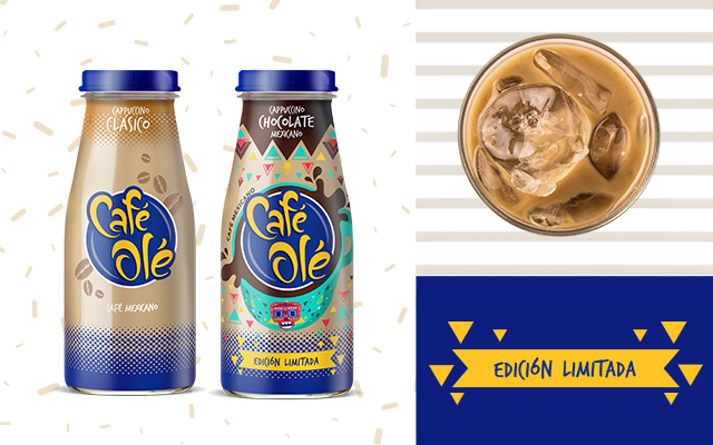 Packaging Design Comparation between Café Olé Cappuccino Classic Flavour and Cappuccino Mexican Chocolate Limited Edition, Mexico by Imaginity