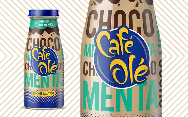 Packaging Design Beverage for Café Olé Ice Coffee Cappuccino Choco Menta, Chocolate Mint Limited Edition, Mexico by Imaginity