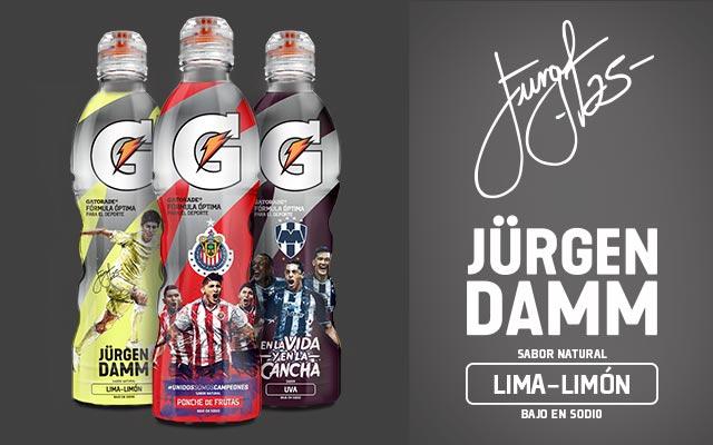 Diseño de packaging para la Edición Limitada de Gatorade Fútbol México. Detalle de la línea. Diseño: Imaginity