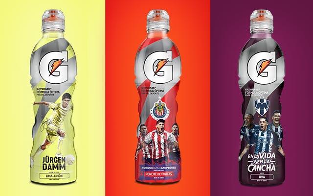 Diseño de packaging para la Edición Limitada de Gatorade Fútbol México. Diseño para Chivas de México. Diseño: Imaginity