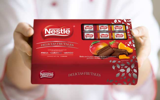 New packaging design for the limited edition of Nestlé's new product Nestlé Fruit Delights, Colombia - Imaginity