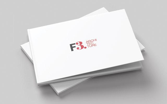 Diseño gráfico para libros con los principales proyectos del estudio de arquitectura F3 Architecture, Argentina - Imaginity