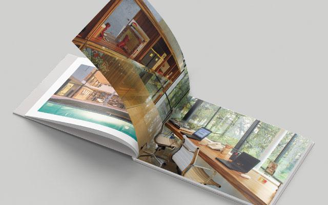 Interiores del diseño de libros con proyectos del estudio de arquitectura F3 Architecture - Imaginity