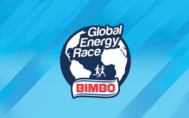 Activación de marca para las carreras de Bimbo Global Energy Race realizada en 23 países, aplicación del logo por Imaginity