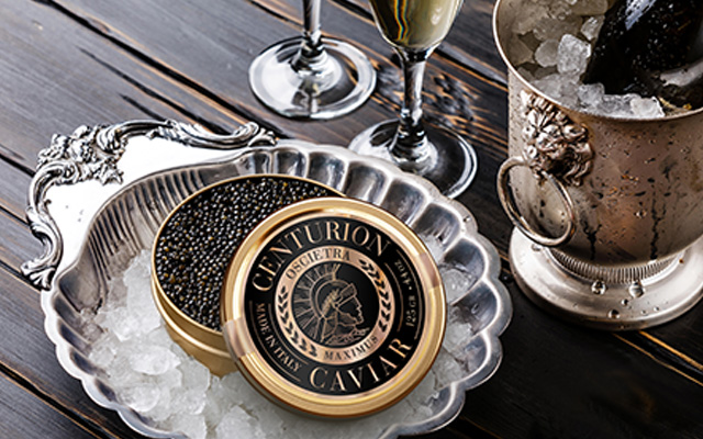 Branding and Packaging Design for Premium Centurion Caviar Italy made, Oscietra Maximus variety by Imaginity