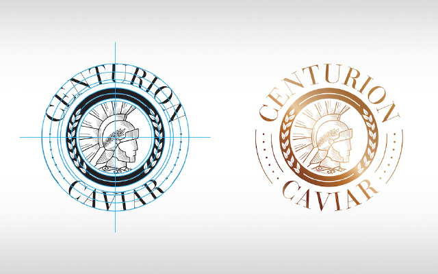 Logo design for Premium Centurion Caviar Italy made, Gold Brand Detail by Imaginity