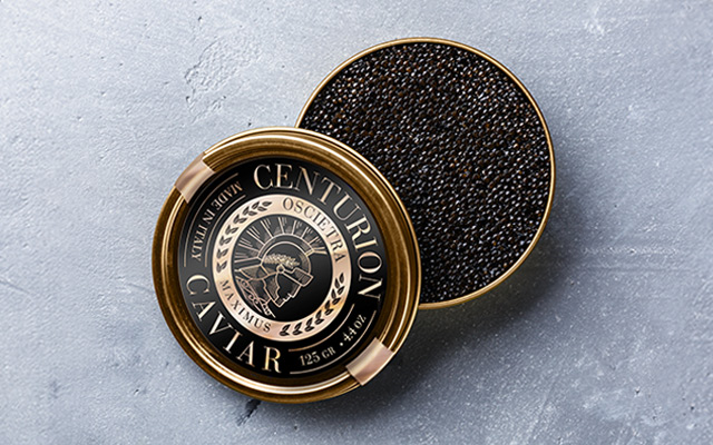 Branding and Packaging Design for Premium Centurion Caviar Italy made, Oscietra Maximus 125 gr variety by Imaginity