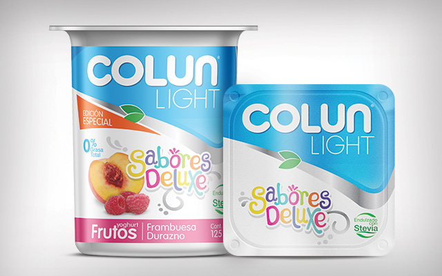 Redesign of packaging and branding for the special edition yoghurt Colun Sabores Deluxe, Chile - Imaginity
