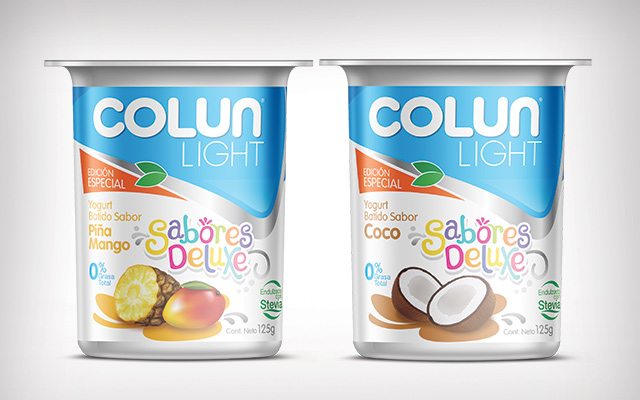 Packaging design and brand design for the special edition Colun Sabores Deluxe, Chile - Imaginity