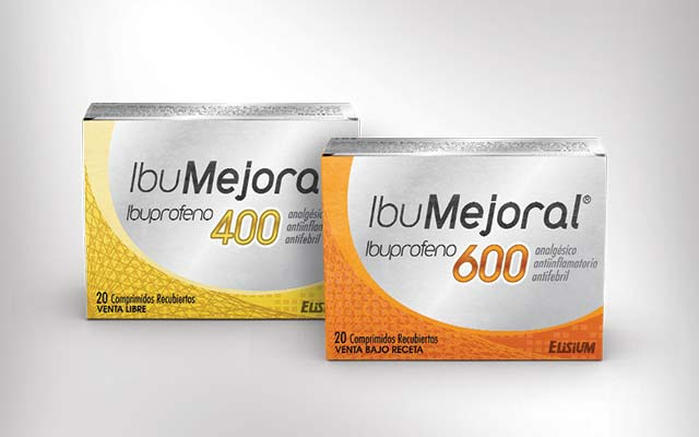 Complete product line of branding and packaging design for the ibumejoral drug line. Design: Imaginity