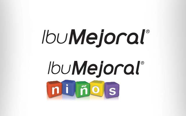 Branding detail for the ibumejoral line of medicines in its adult and children's versions. Design: Imaginity
