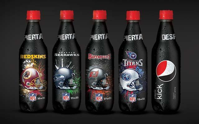 32 diseños de botellas distintos para la edición especial de Pepsi Kick NFL - Imaginity