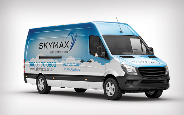 Design for vehicle graphics for Skymax, Argentina - Imaginity