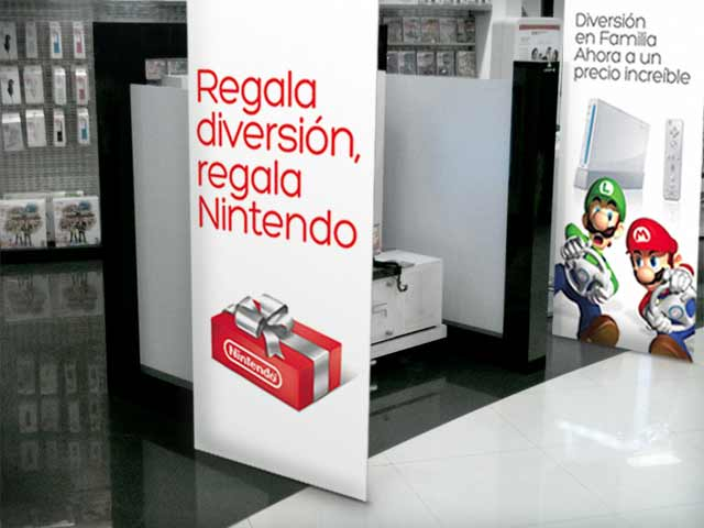 Detail of the brand activation and design of point of sale materials for Nintendo in Latin America. Design: Imaginity