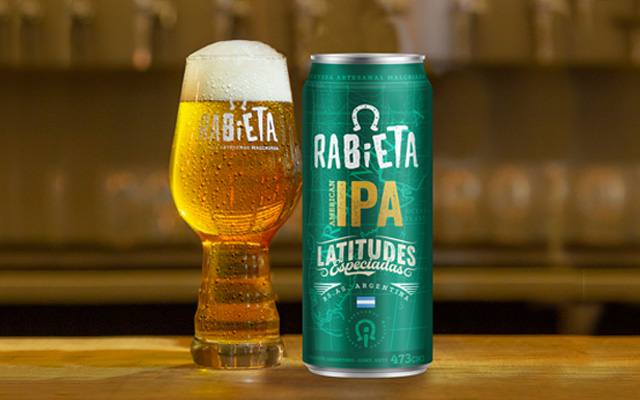 Packaging Design Rabieta Crafted Beer Beverage for 473cc can, American Ipa style, Argentina by Imaginity