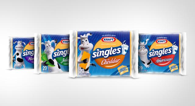 Diseño de empaques para toda la línea de quesos Singles, de Kraft Foods - Imaginity