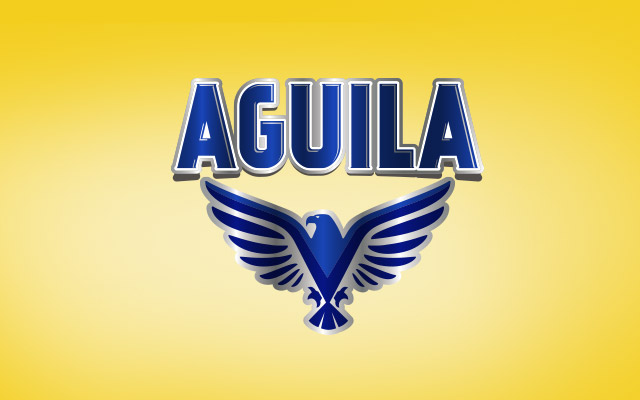 Detail of the branding for the label of the new Aguila Paraguay flavored beer. Design: Imaginity.