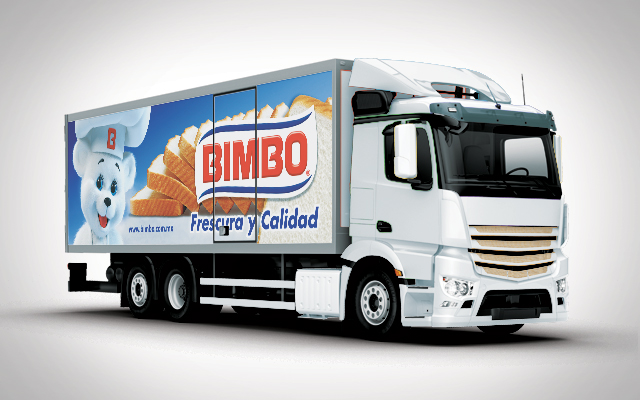 Brand activation design for the Bimbo Pan Blanco truck fleet, Latin America - Imaginity