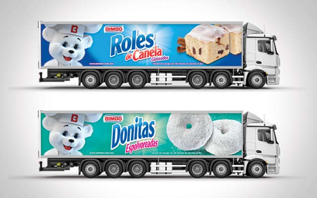 Design for the identity activation of the Bimbo Pan dulce truck fleet, Latin America - Imaginity