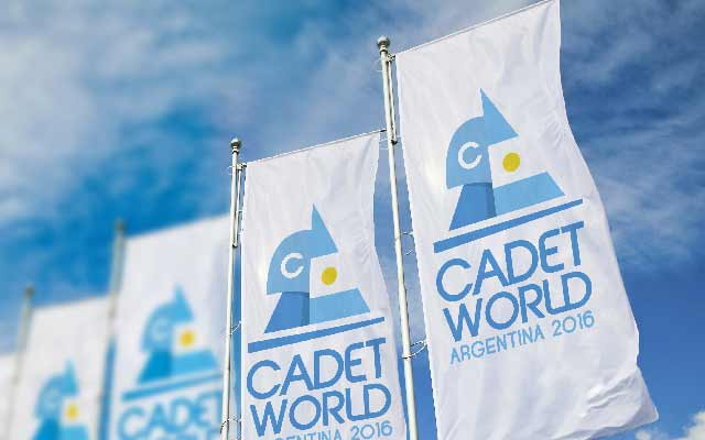Graphic design of visual identity pieces within the event for Cadet World Argentina 2016 - Imaginity