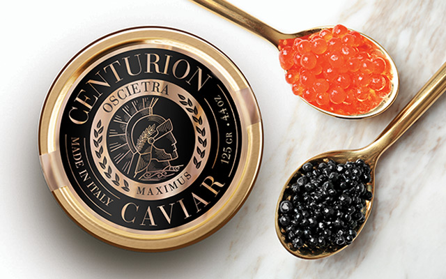 Un diseño único, exclusivo para identidad de caviar Centurion, Estados Unidos - Imaginity