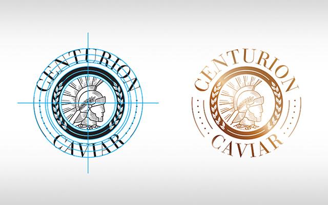 Diseño de logo de la marca premium de caviar Centurion, Estados Unidos - Imaginity