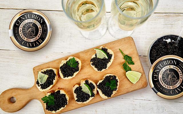 Diseño de etiquetas premium para caviar Centurion en toda su línea de productos, Estados Unidos - Imaginity