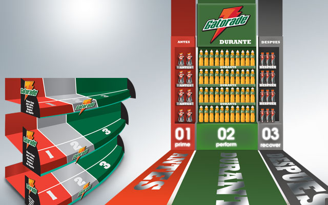 Point of sale material design for Gatorade, Pepsico, Central America launch of G Series - Imaginity