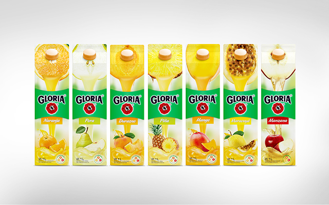 Complete line of Packaging Design for Gloria Juices, Perú by Imaginity