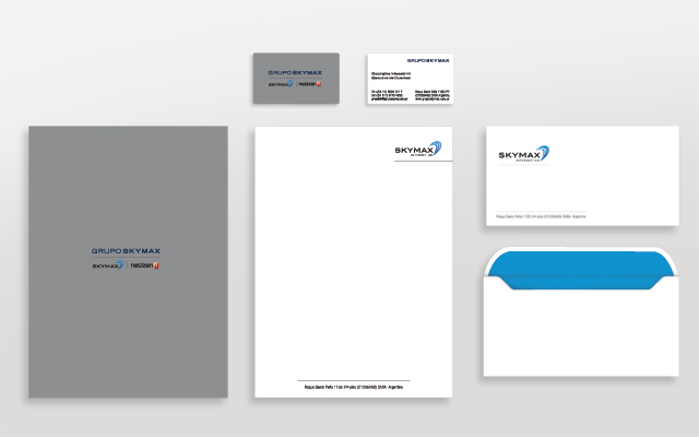 Design of institutional printed communication materials for Skymax, Argentina - Imaginity
