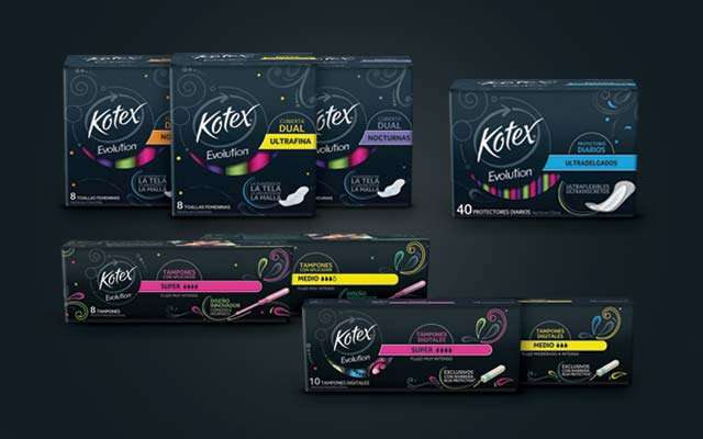 Launch of the new packaging design and logo for Kotex Evolution feminine protection products - Imaginity