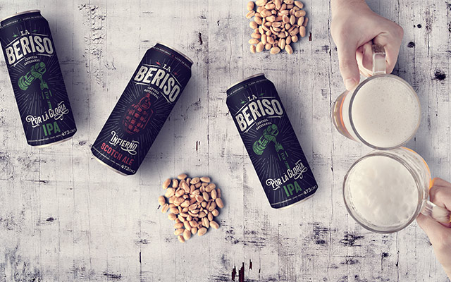 La Beriso craft beer can pack design argentinian rock band - Imaginity