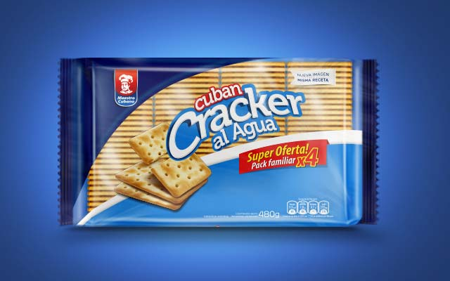New packaging design and logo for Crackers cookies by Maestro Cubano al agua, Uruguay - Imaginity