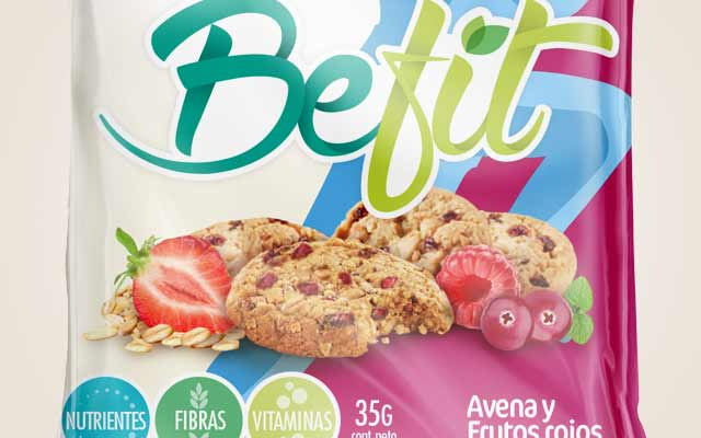 New logo design for the BeFit healthy product line, from Mazzei, Paraguay - Imaginity