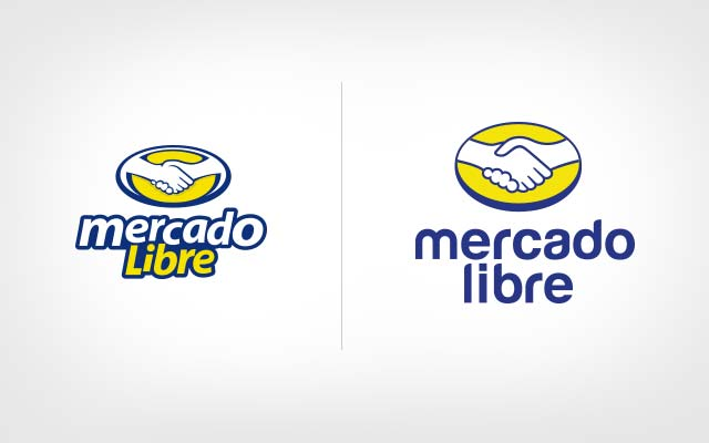 Before and after comparison of logo design for Mercado Libre - Imaninity