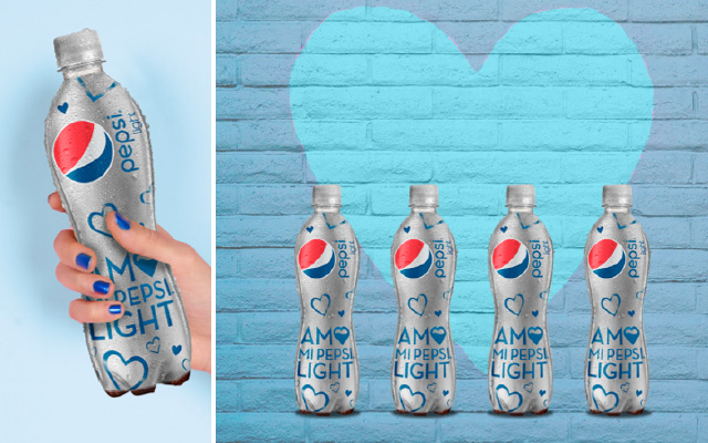 Packaging design for the new Pepsi light label in its special edition I love my Pepsi Light. Mexico. Design: Imaginity