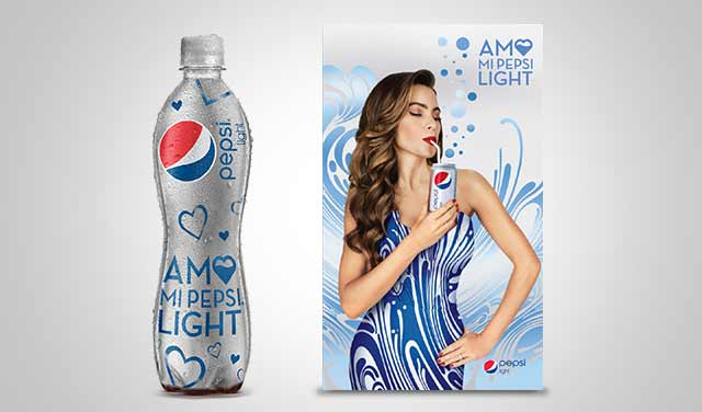 Packaging design for the special edition I Love my Pepsi Light and its graphic campaign. Mexico. Design: Imaginity