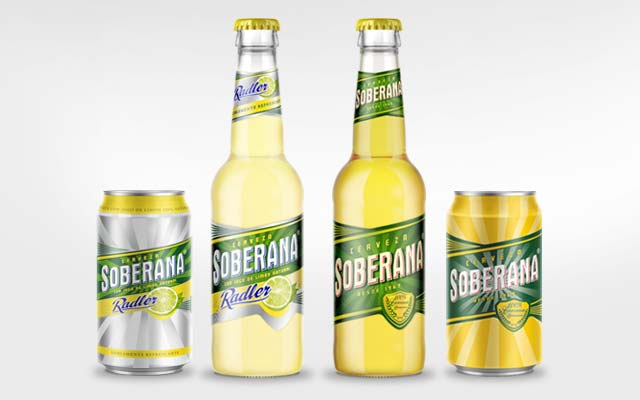 Complete line of Soberana y Soberana Radler products, 354cc can and bottle, Heineken, Panama - Imaginity