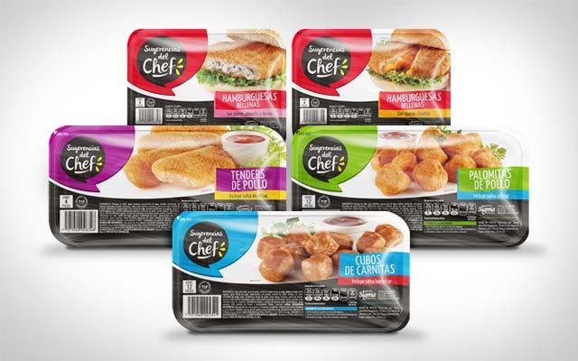 Línea completa del Diseño de packaging y branding para Sugerencias del Chef. Diseño: Imaginity