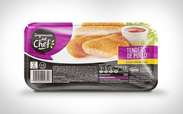 Detalle del diseño de branding para la nueva línea de Sugerencias del Chef. Diseño: Imaginity.
