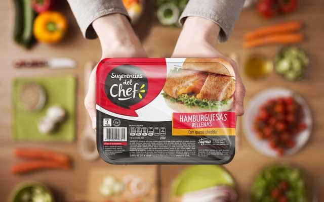 Diseño de packaging y branding para la nueva línea de alimentos congelados listos, Sugerencias del Chef. Diseño: Imaginity.