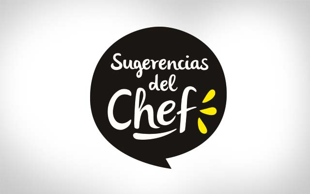 Detail of the branding design for the new Chef's Suggestions line. Mexico. Design: Imaginity.